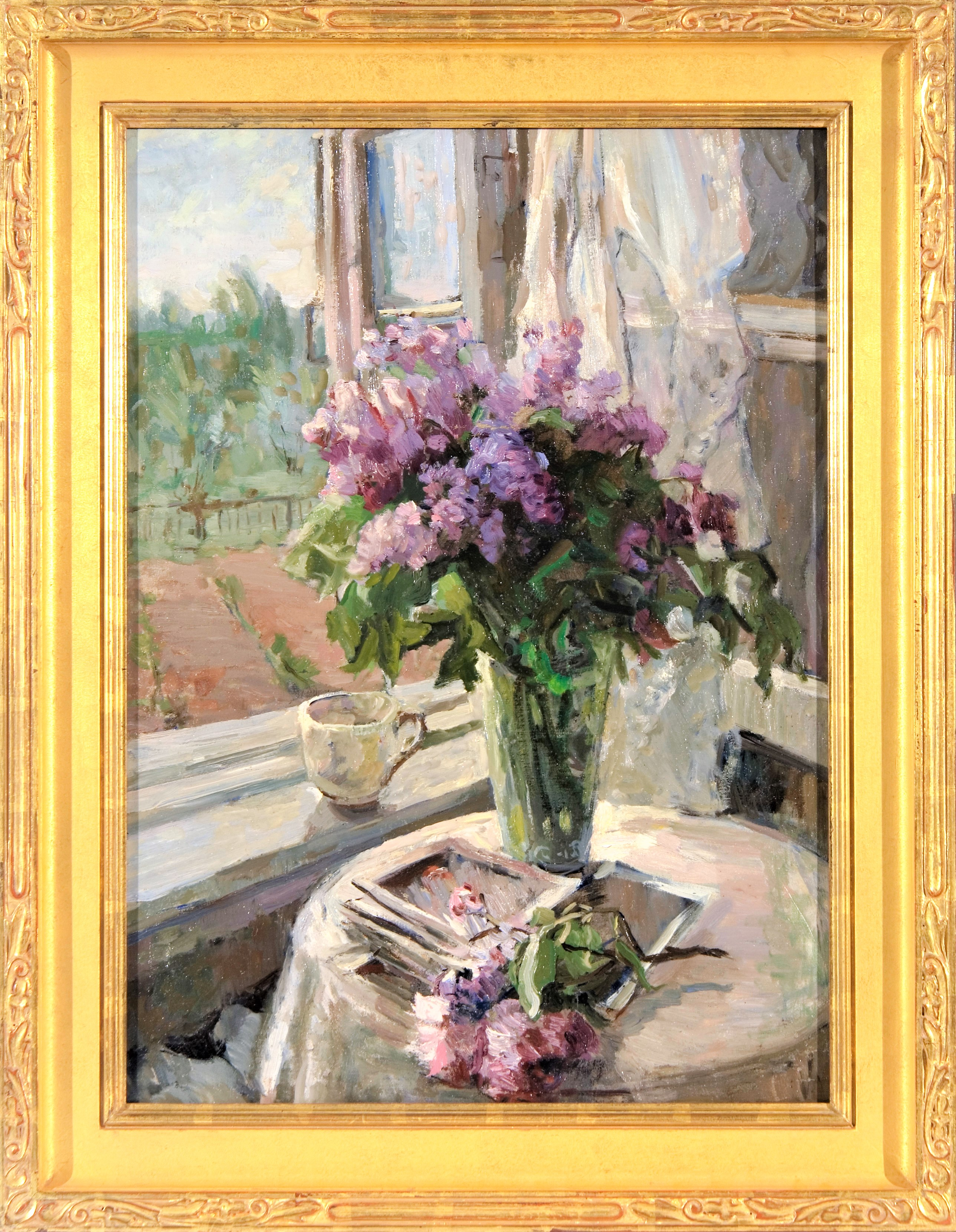 2937 Lilacs by the window Framed