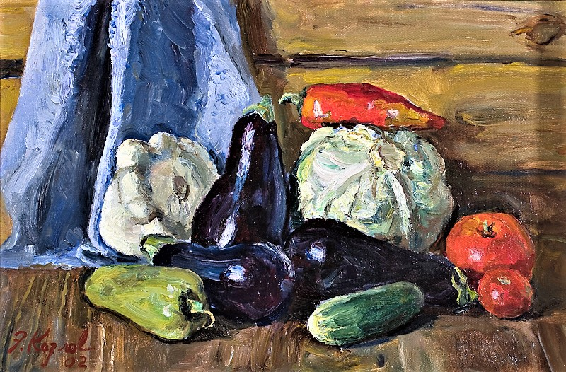 6046- Kozlov- Still Life with Eggplants