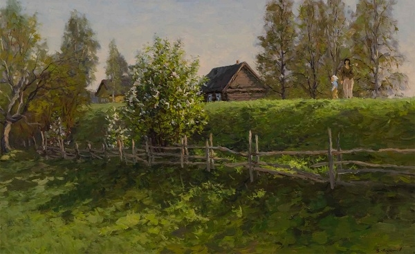 Filippov, Vladimir V.- On the Walk, The Bird Cherry is Blossoming 
